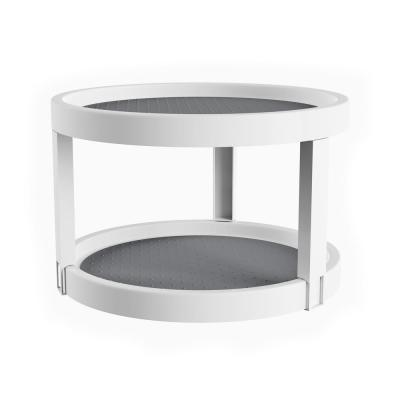 9.75 in. 2-Tier Lazy Susan in White
