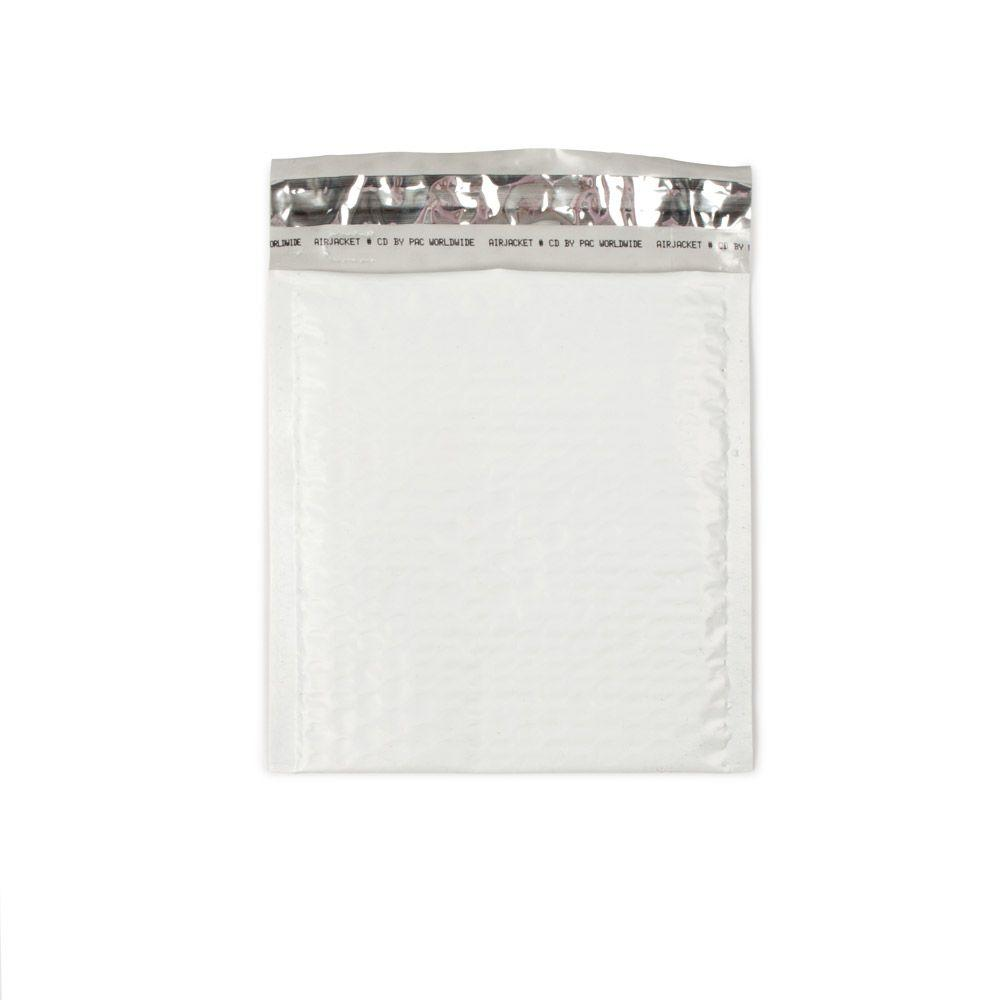 6.5 in. x 7.5 in. White Poly Bubble Mailers with Adhesive