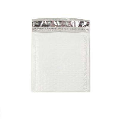 6.5 in. x 7.5 in. White Poly Bubble Mailers Envelope with Adhesive Easy Close Strip (250-Case)