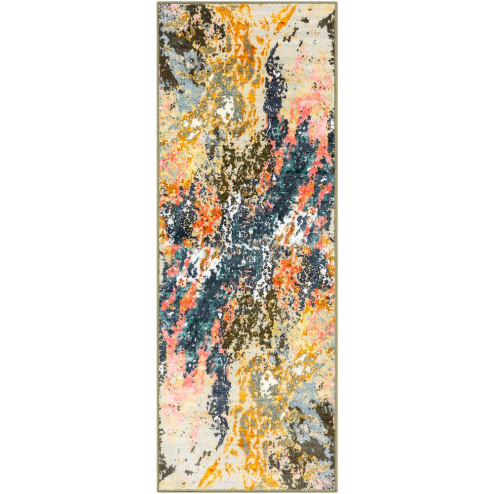 Artistic Weavers Kasimir Multi-color 2 ft. 7 in. x 7 ft. 3 in. Abstract Runner Rug