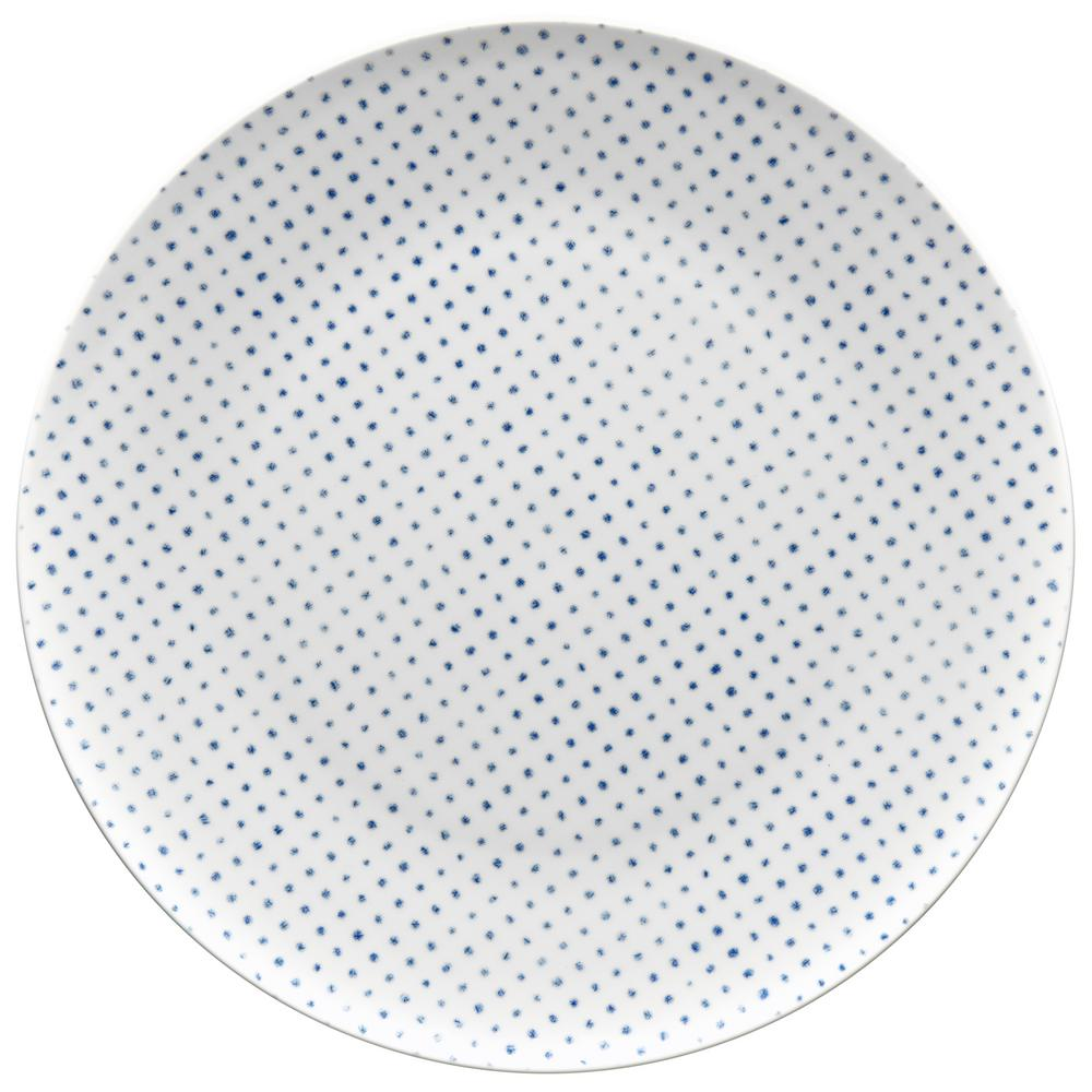 11 in. Blue Hammock Dots Coupe Dinner Plate