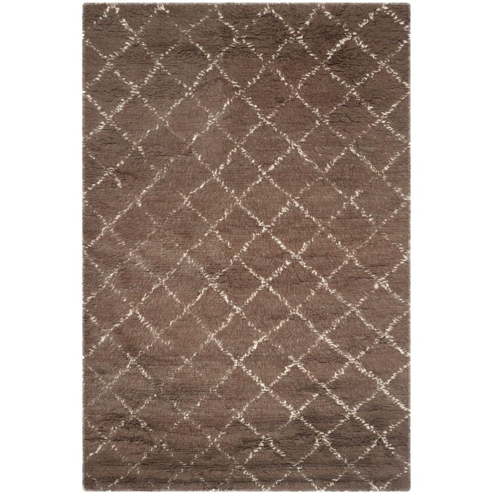 Safavieh Kenya Dark Grey Ivory 8 Ft X 10 Ft Area Rug
