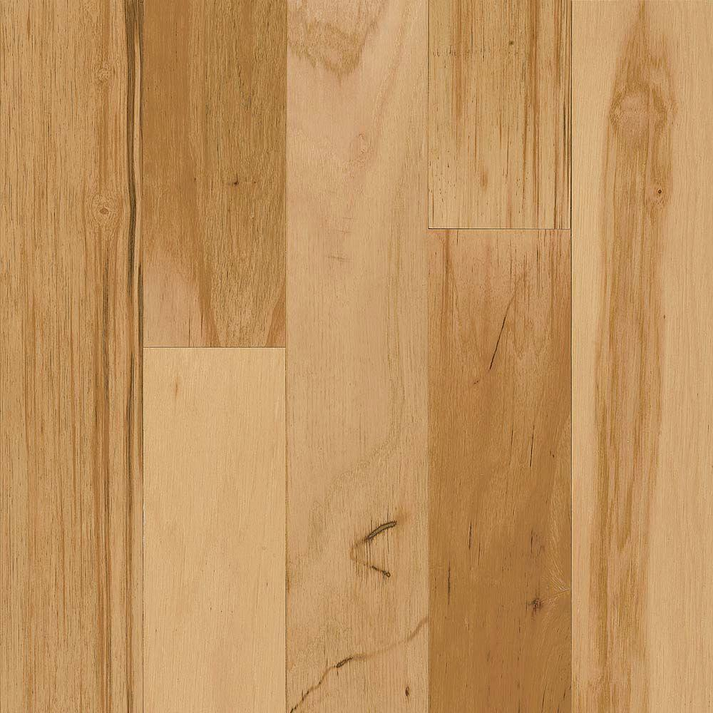 Bruce Take Home Sample - Hickory Rustic Natural Engineered Click Lock Hardwood Flooring - 5 in. x 7 in.