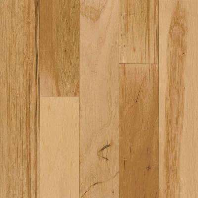 Take Home Sample - Hickory Rustic Natural Engineered Click Lock Hardwood Flooring - 5 in. x 7 in.
