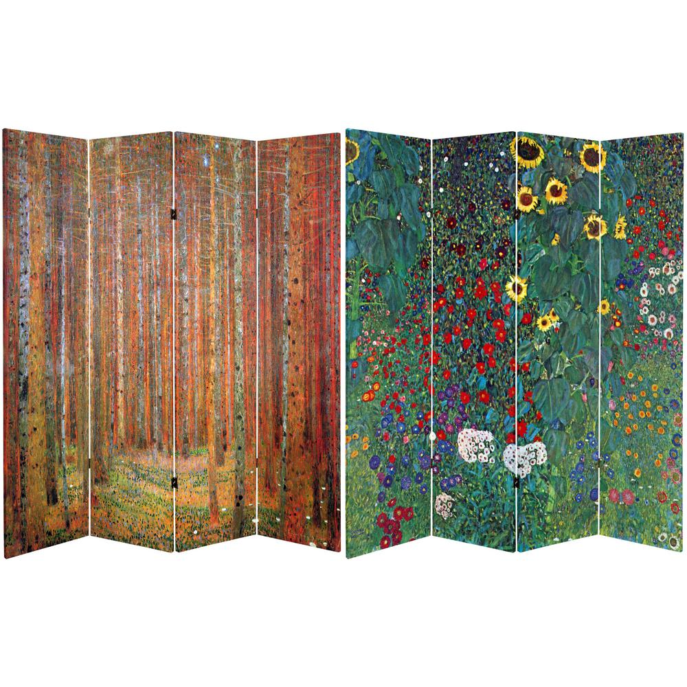6 ft Printed 4 Panel Room Divider CAN KLIMT4AB The Home Depot