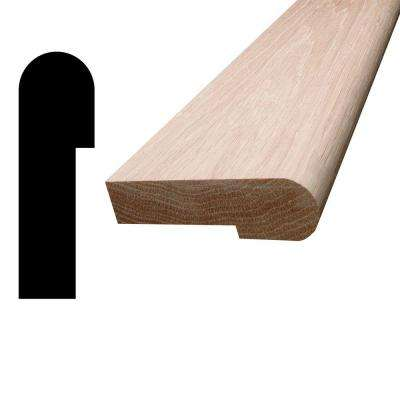 1 in. x 3-1/4 in. x 96 in. Oak Stair Nosing Moulding