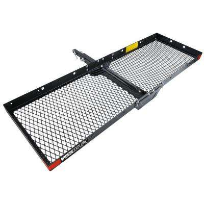 500 lb. Capacity, 60 in. x 20 in. Steel Tray Style Hitch Cargo Carrier for 2in. receiver with adapter sleeve