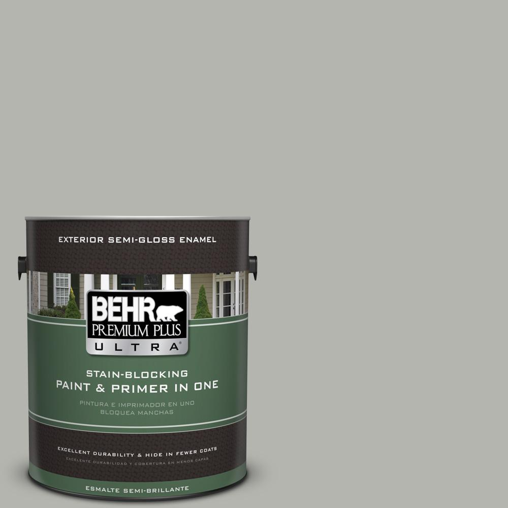 1 gal. #PPU25-08 Heirloom Silver Semi-Gloss Enamel Exterior Paint