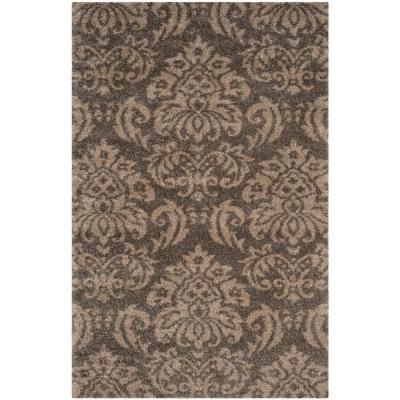 Florida Shag Smoke/Beige 6 ft. x 9 ft. Area Rug
