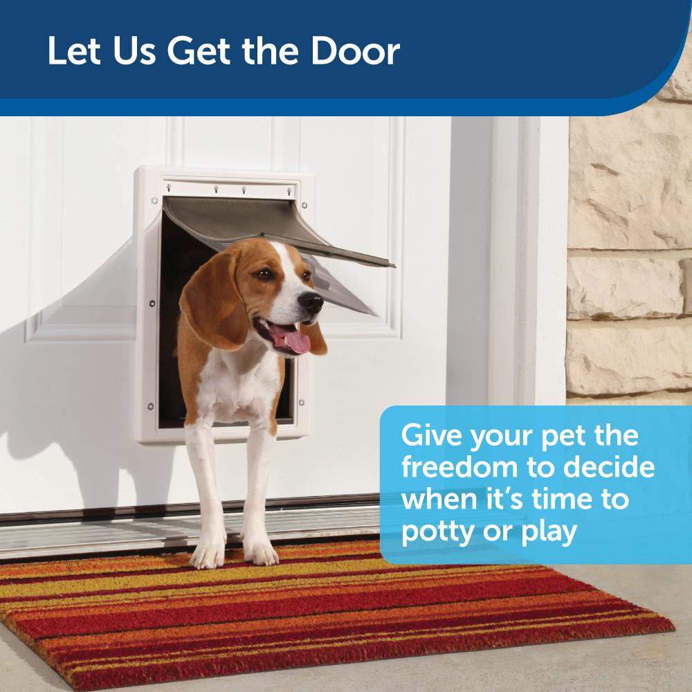 Petsafe 10 1 8 In X 16 1 4 In Large Extreme Weather Pet Door Hpa11 10989 The Home Depot