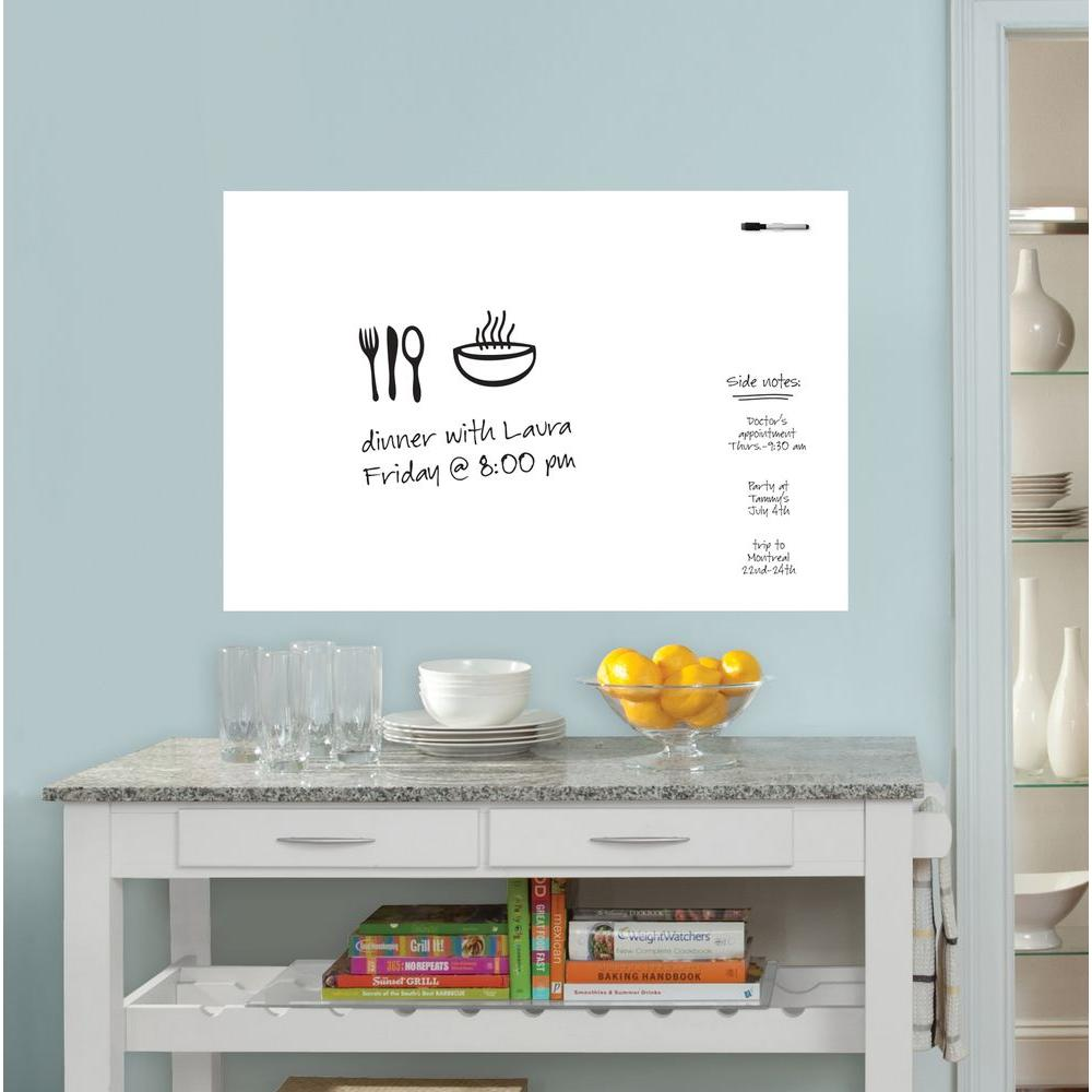 White Dry Erase Board WPE93961   The Home Depot Part 91