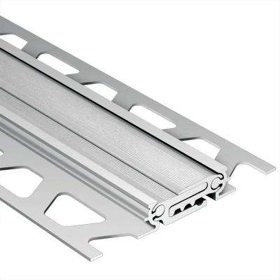 Dilex-BT Satin Anodized Aluminum 5/16 in. x 8 ft. 2-1/2 in. Metal Movement Joint Tile Edging Trim