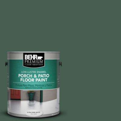 1 gal. #450F-7 Hampton Green Low-Lustre Porch and Patio Floor Paint