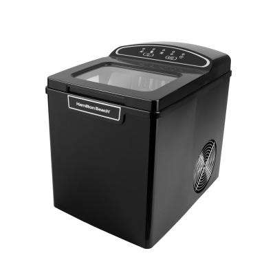 27 lb. Free Standing Ice Maker in Black