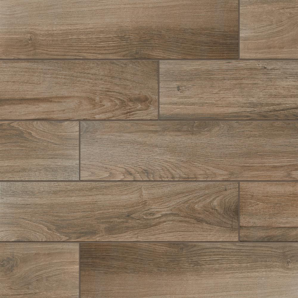 EverMore Sierra Wood 6 in. x 24 in. Porcelain Floor and
