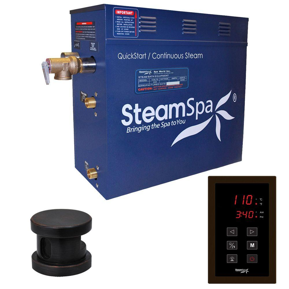 Oasis 4.5kW QuickStart Steam Bath Generator Package in Polished Oil Rubbed