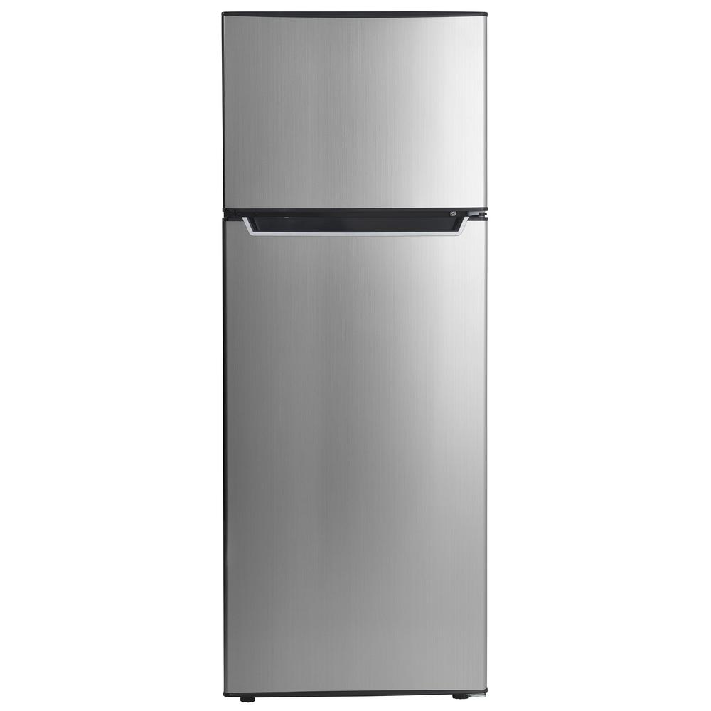 7.3 cu. ft. Top Freezer Refrigerator in Stainless Steel, Counter Dept