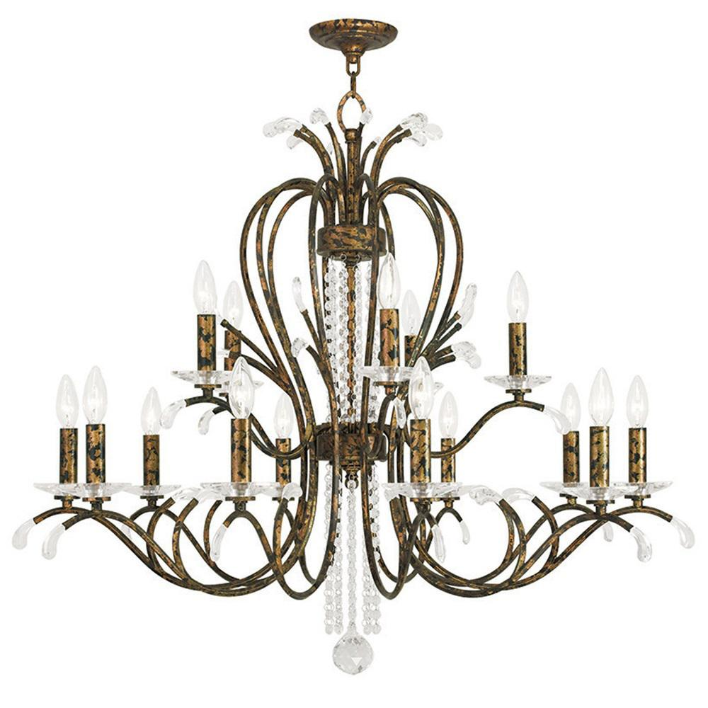Venetian Bronze Chandelier: Livex Lighting Serafina 15-Light Venetian Golden Bronze
