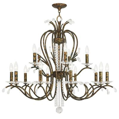 Serafina 15-Light Venetian Golden Bronze Chandelier