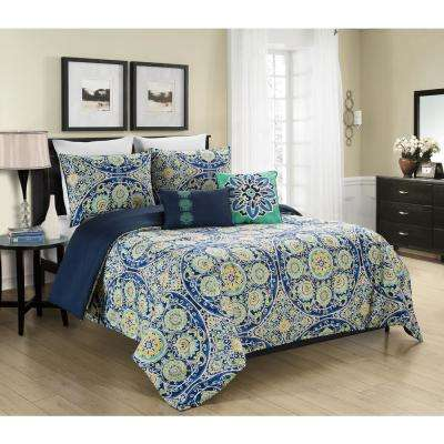 Malia 5-Piece Full/Queen Reversible Comforter Set