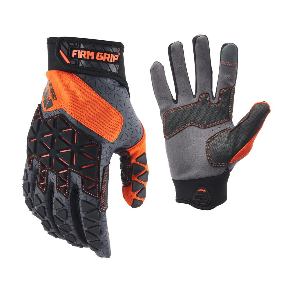 FirmGrip Firm Grip PRO-Fit Flex Impact Gloves Large, Adult Unisex, Black