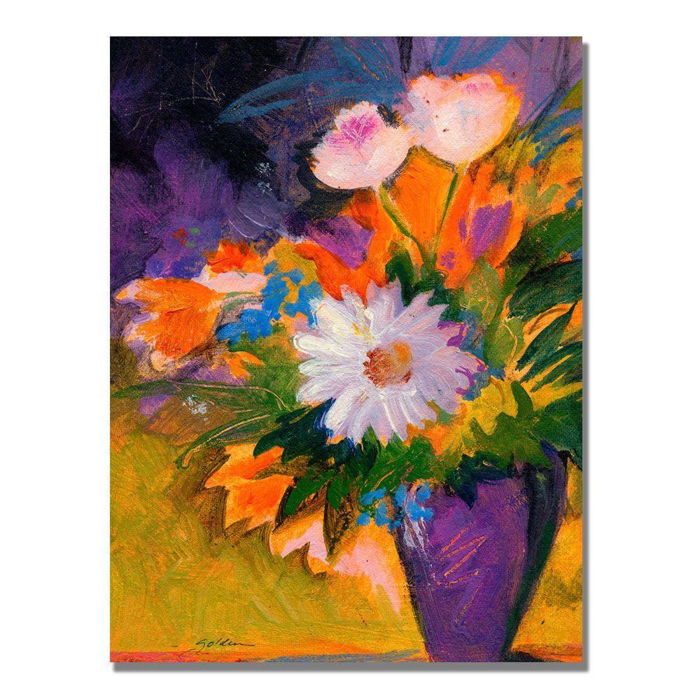 24 in. x 32 in. Purple Vase Canvas Art