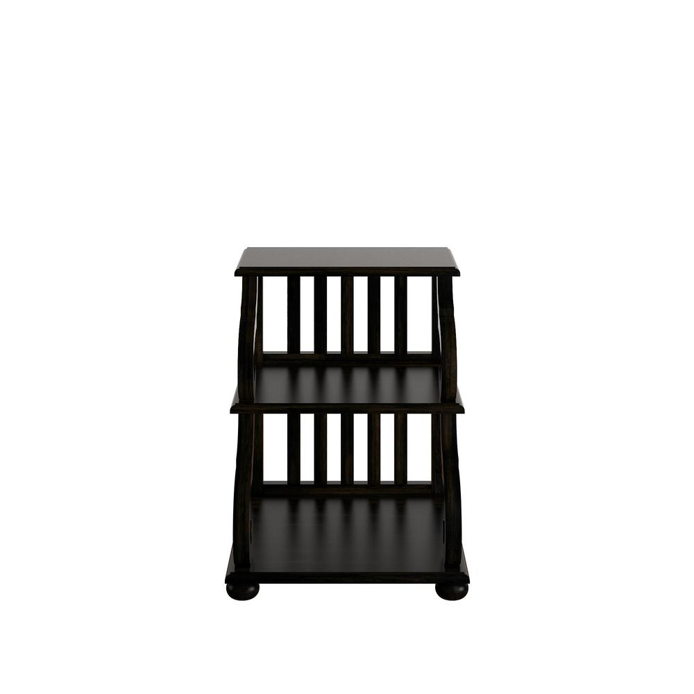 Kelsey Antique Black Tiered Accent Table