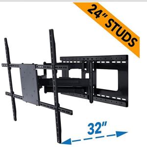 Full Motion TV Wall Mount for 42 in. - 80 in. TVs with Room Adapt Extends 32 in., Mounts on 16 in. or 24 in. Studs
