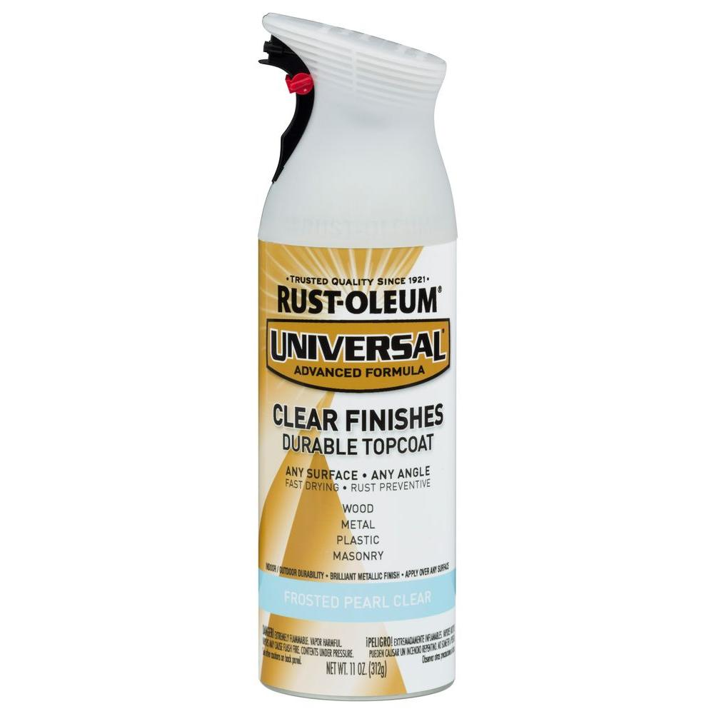 RustOleumUniversal Rust-Oleum Universal 11 oz. All Surface Frosted Pearl Clear Topcoat Spray Paint (6-Pack)