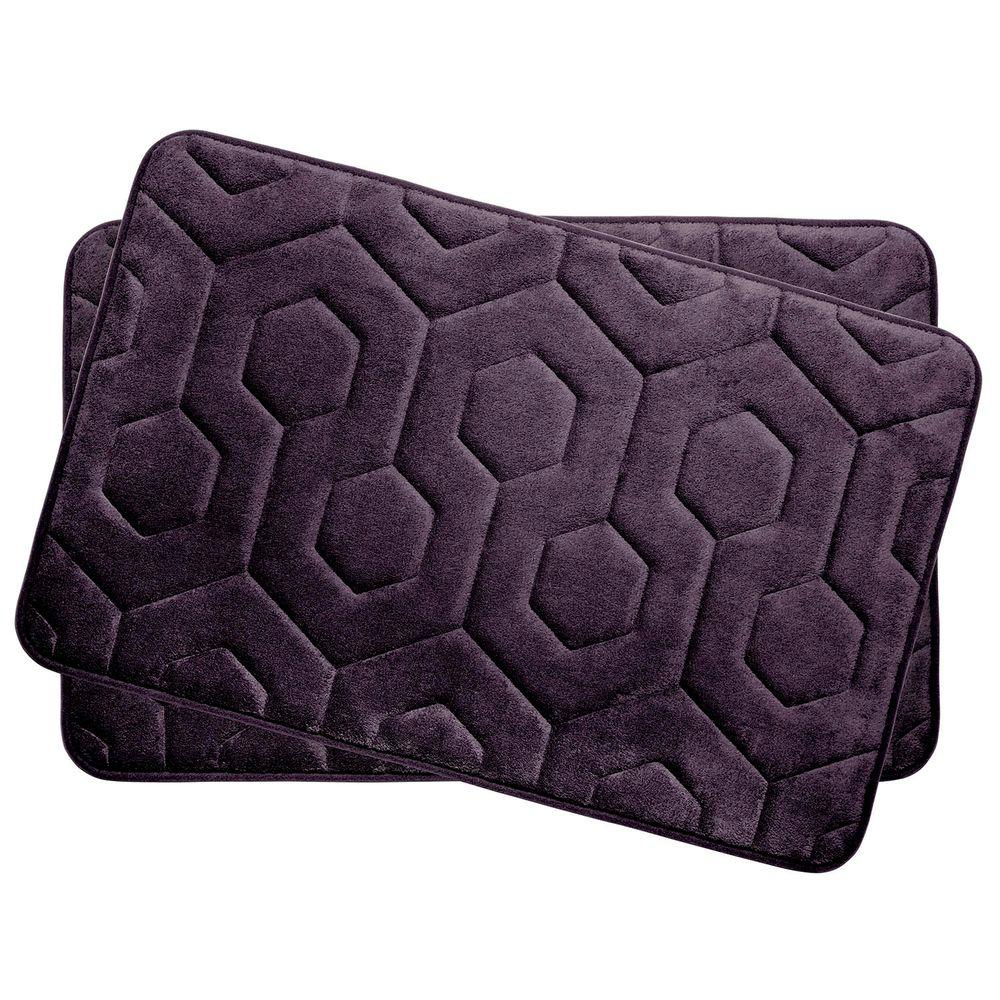 Bouncecomfort Hexagon Plum 17 In X 24 In Memory Foam