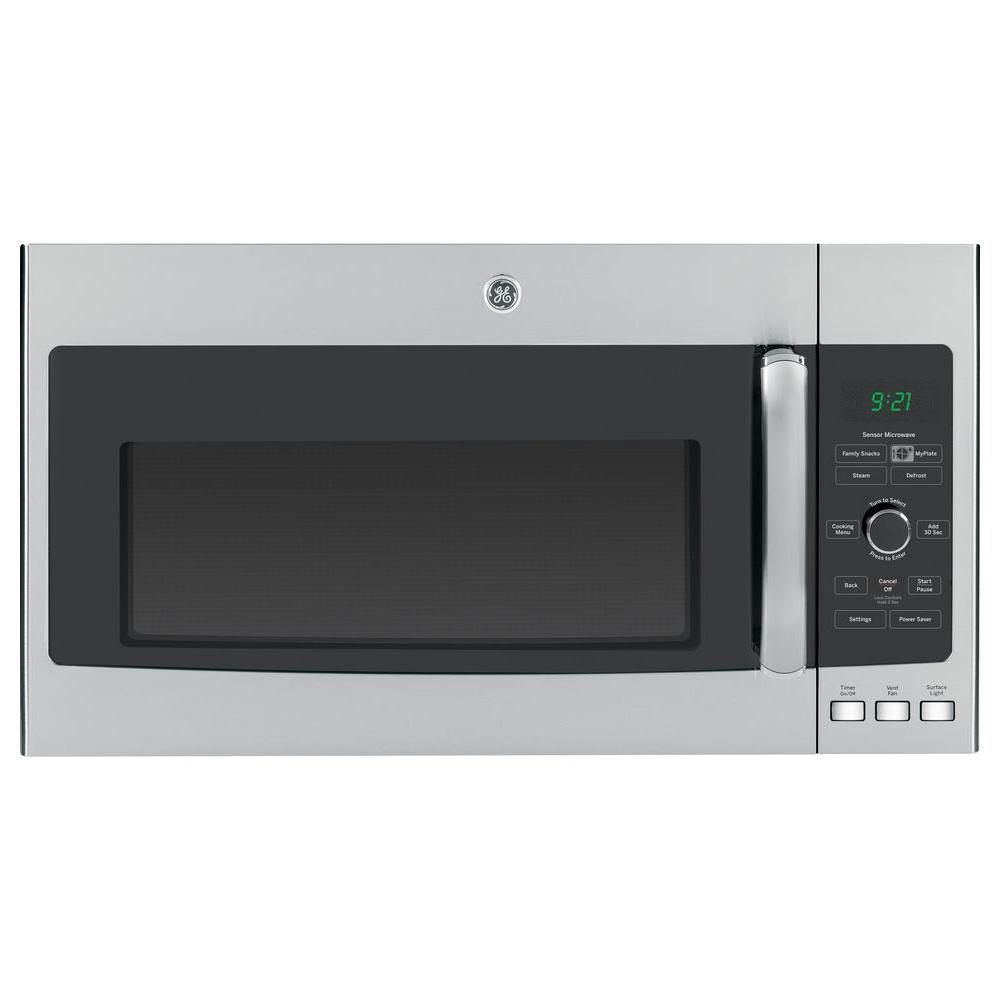 GE Profile 2.1 cu. ft. Over the Range Microwave in Stainless Steel with Sensor Cooking