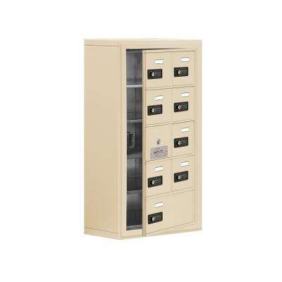 19100 Series 17.5 in. W x 31 in. H x 9.25 in. D 8 Doors Cell Phone Locker Surface Mount Resettable Lock in Sandstone