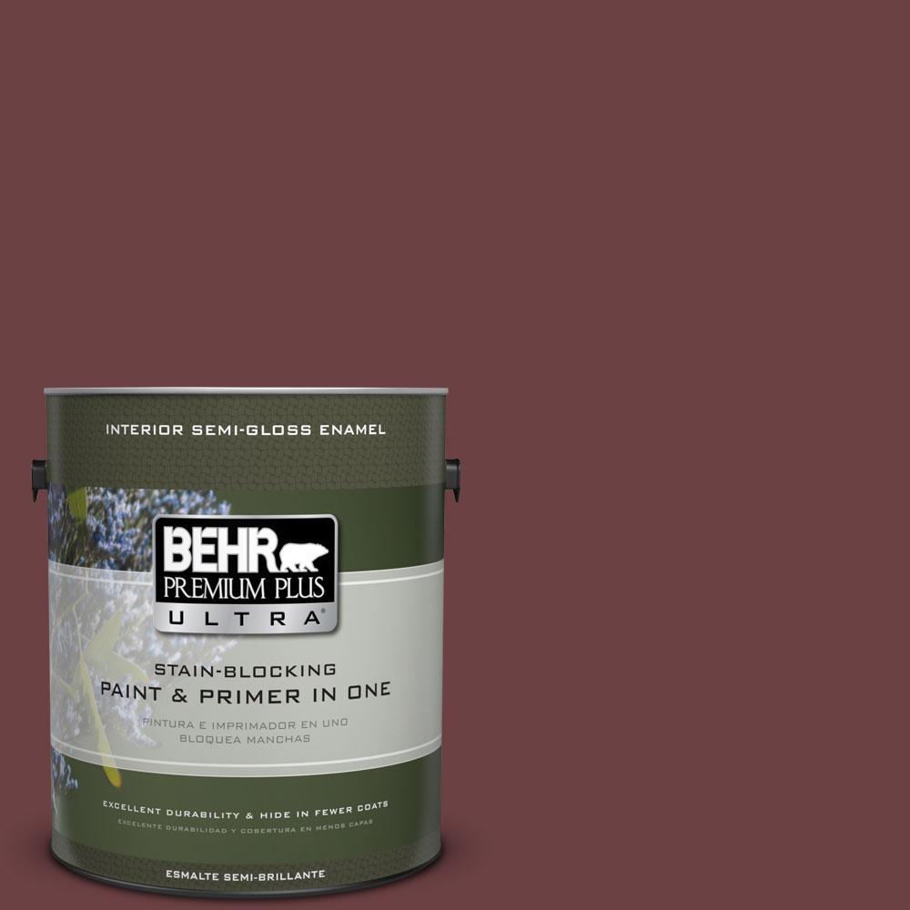 1-gal. #BIC-50 Deep Claret Semi-Gloss Enamel Interior Paint