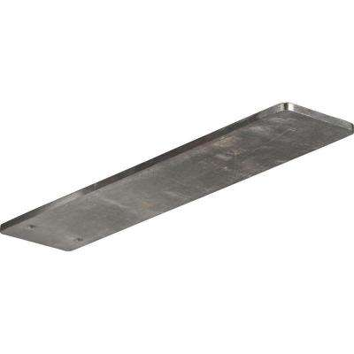 12 in. x 3 in. x 1/4 in. Stainless Steel Unfinished Metal Logan Bracket