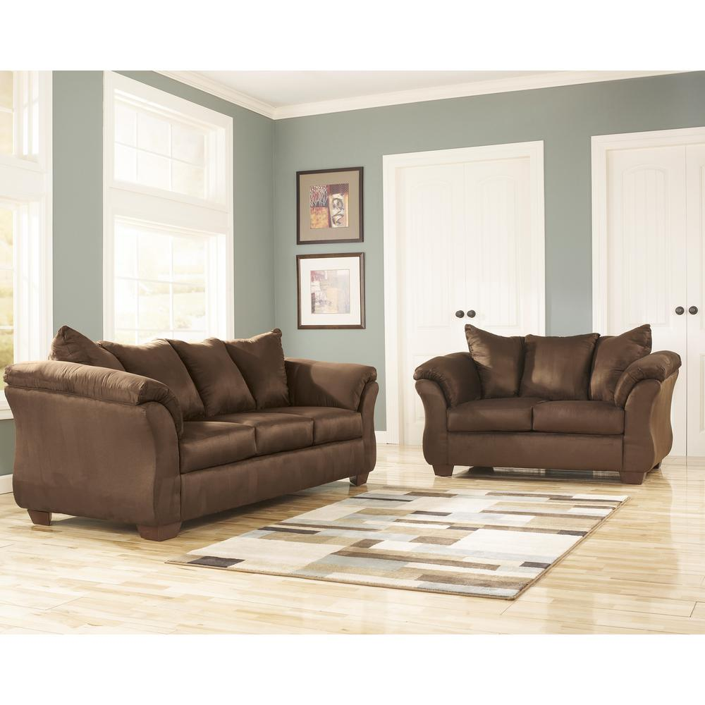 Flash Furniture Signature Design By Ashley Darcy 2 Piece Cafe Fabric Living  Room Set