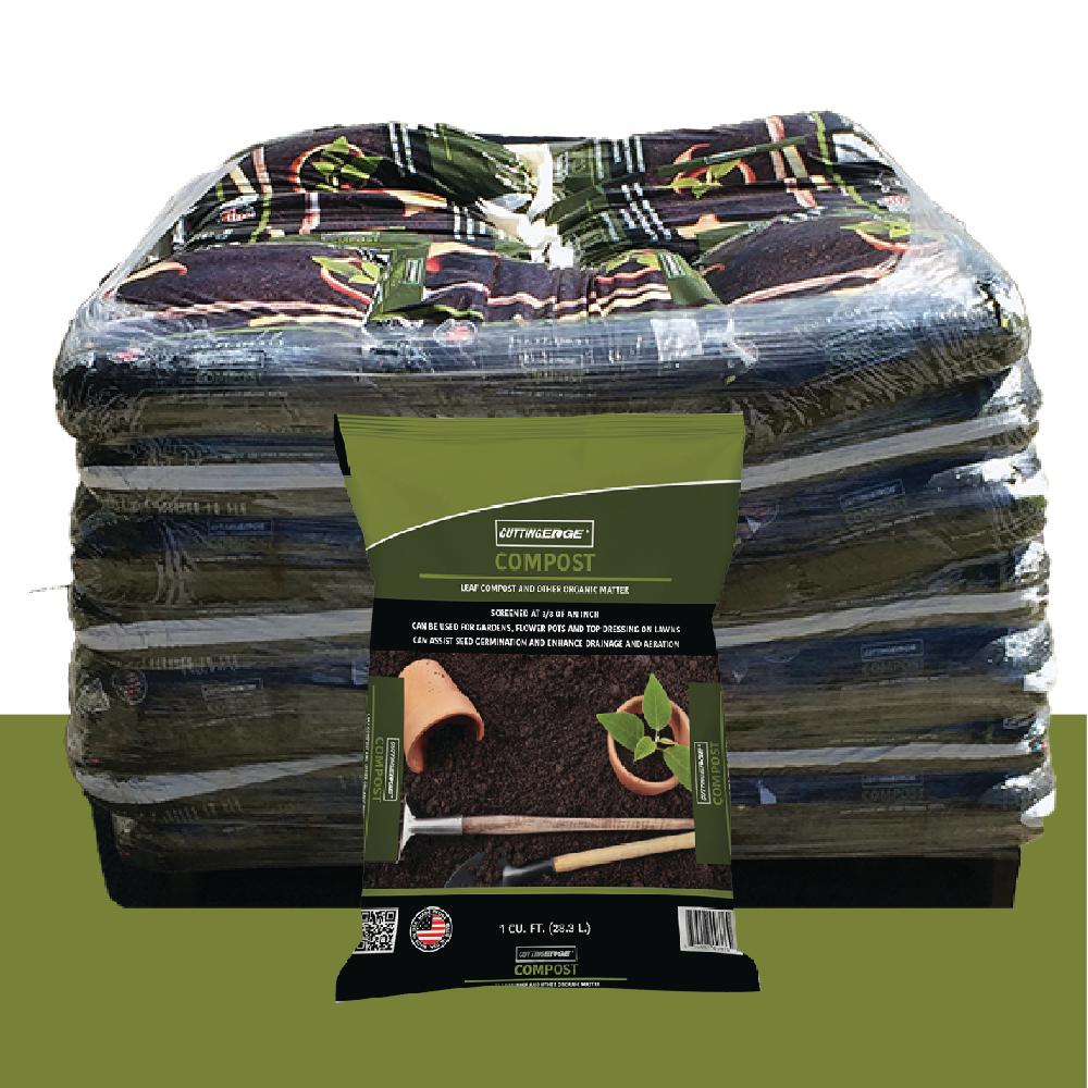 1 cu. ft. Screened at 3/8 in. Premium Quality Compost Pallet