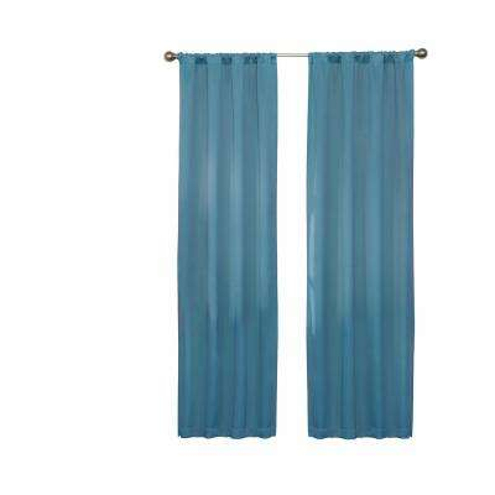 Darrell Blackout Window Curtain Panel in Sky - 37 in. W x 63 in. L
