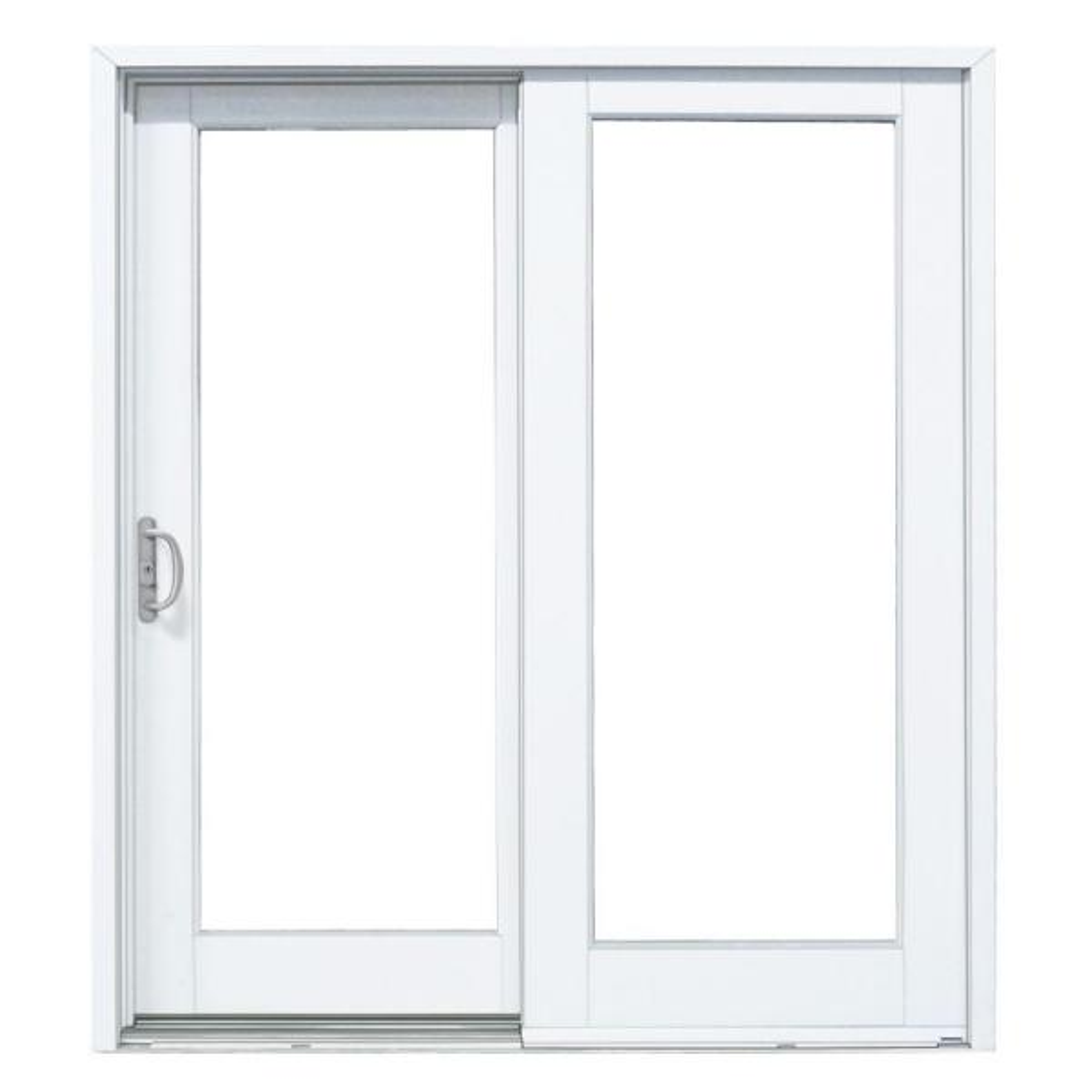 72 in. x 80 in. Smooth White Left-Hand Composite Sliding Patio Door