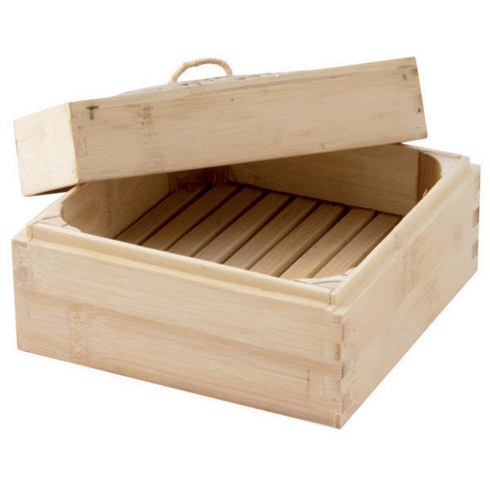 6 in. x 6 in. Square Bamboo Steamer