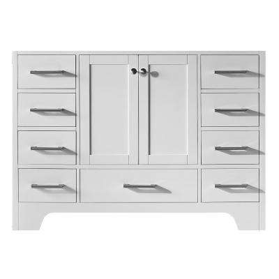 Clariette 47.2 in. W x 21.7 in. D x 33.5 in. H Bath Vanity Cabinet Only in White