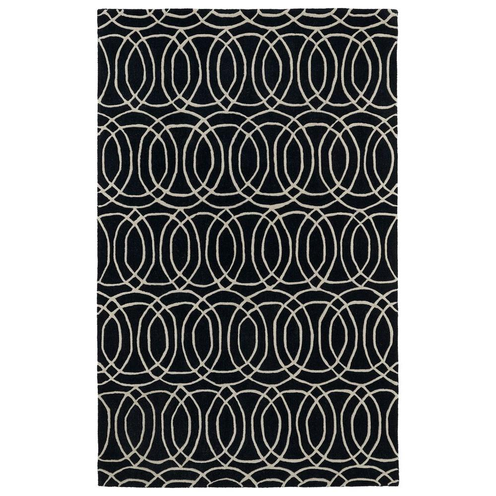 Revolution Black 8 ft. x 11 ft. Area Rug