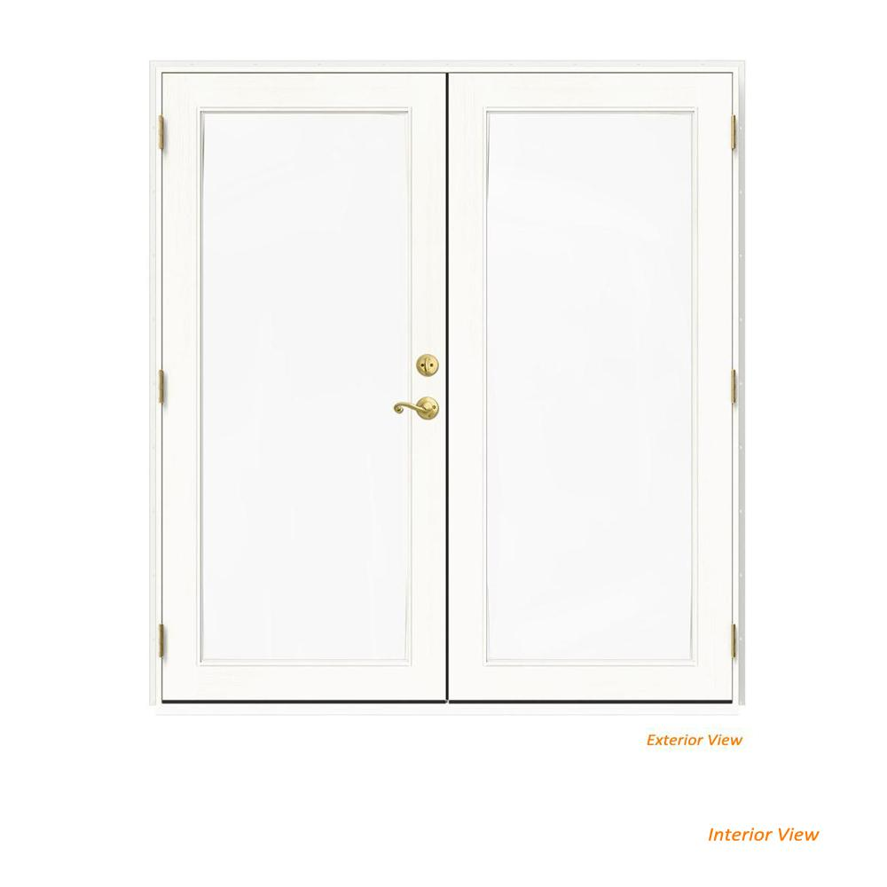 72 in. x 80 in. W-2500 White Clad Wood Right-Hand Full