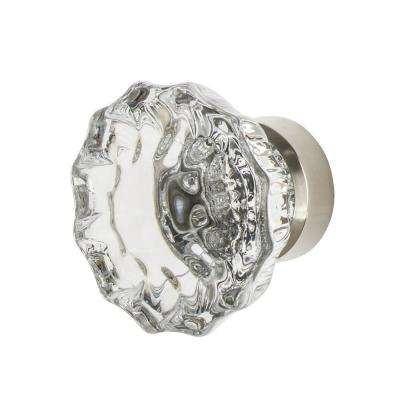 Crystal 1-3/8 in. Cabinet Knob in Polished Nickel