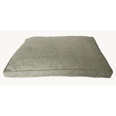 Large 40 in. x 30 in. Chenille Pet Bed Beige