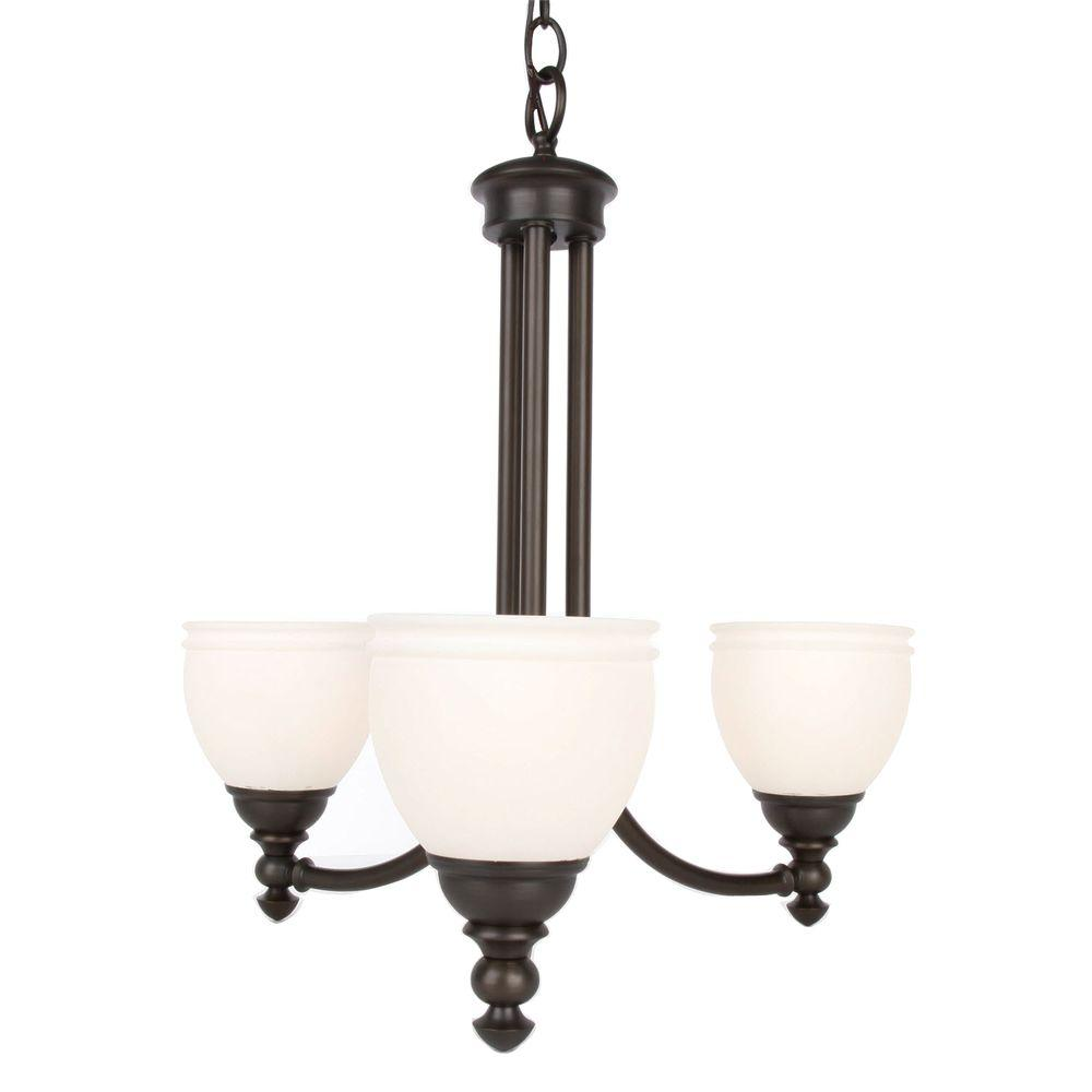Hampton Bay Stanton Hills 3-Light Sable Bronze Patina Chandelier