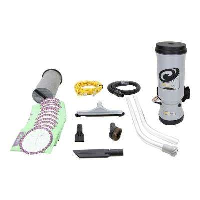 10 Qt. Commercial Backpack Vacuum Cleaner with Attachment Set