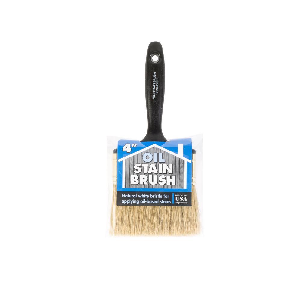 4 in. Oil Stain Bristle Brush