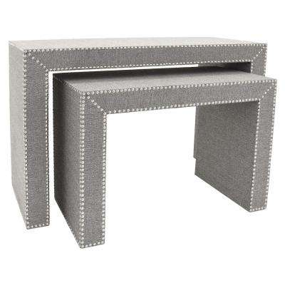 45.75 in. x 14 in. Gray Console Tables (Set of 2)