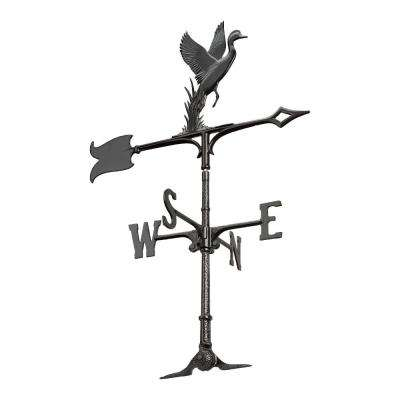 30 in. Black Duck Accent Weathervane