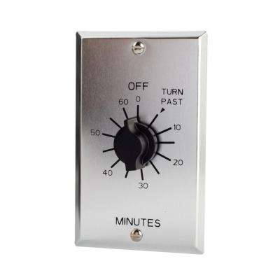 C-500 Series Multi-Volt 60-Minute Commercial Style Springwound Auto Off In-Wall Timer